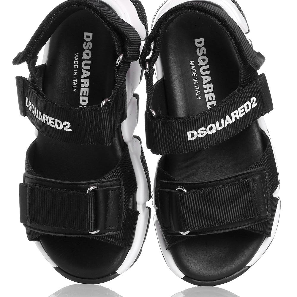 Черные сандалии Dsquared2 на липучках