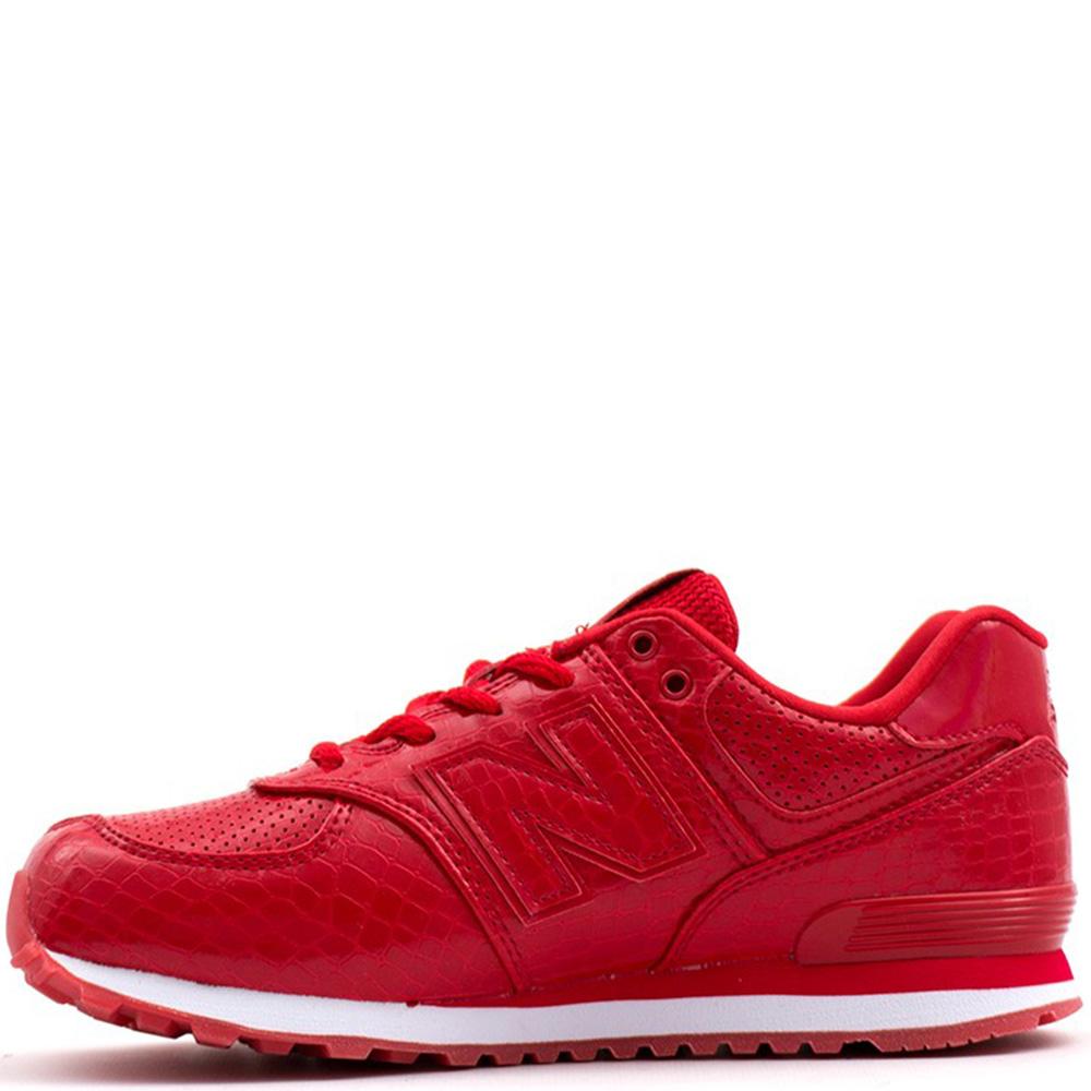 Кроссовки New Balance 574 красного цвета