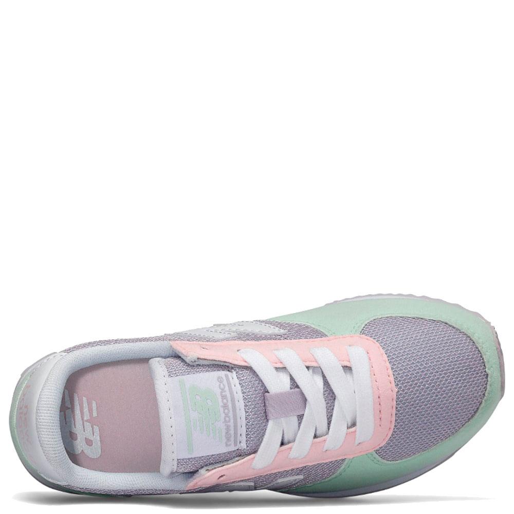 Кроссовки New Balance 220 фиолетовые с салатовым
