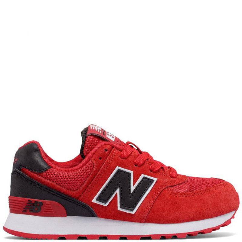 Кроссовки New Balance 574 Lifestyle красного цвета