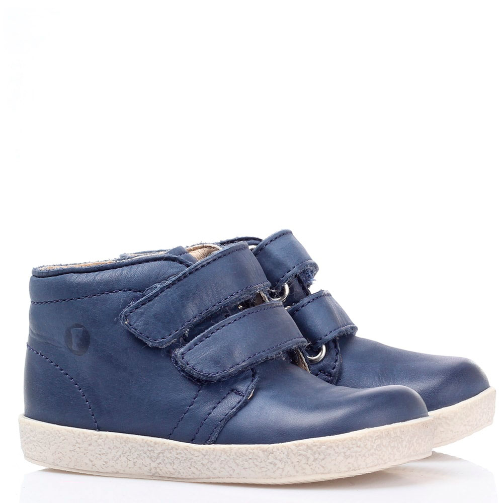 Ботинки на липучках Falcotto из синей кожи