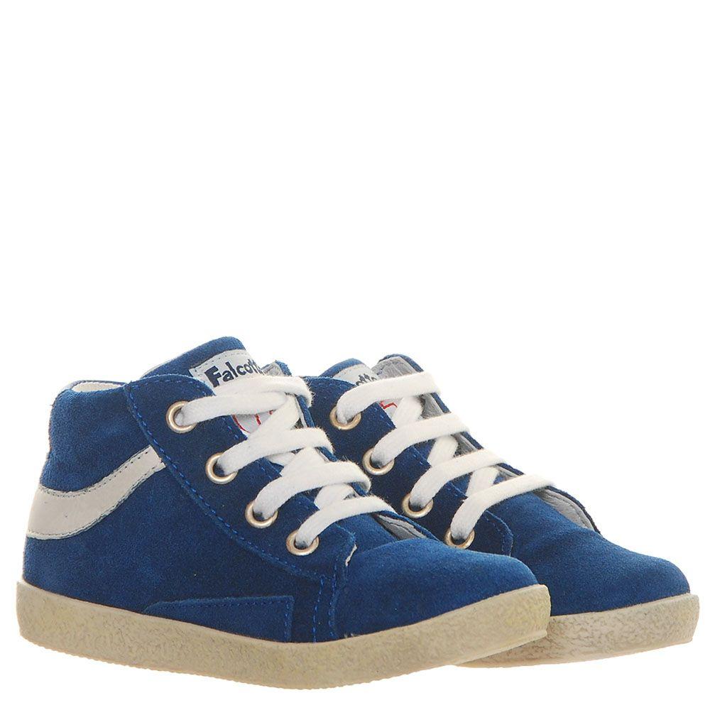 Синие замшевые кеды Falcotto с белыми деталями