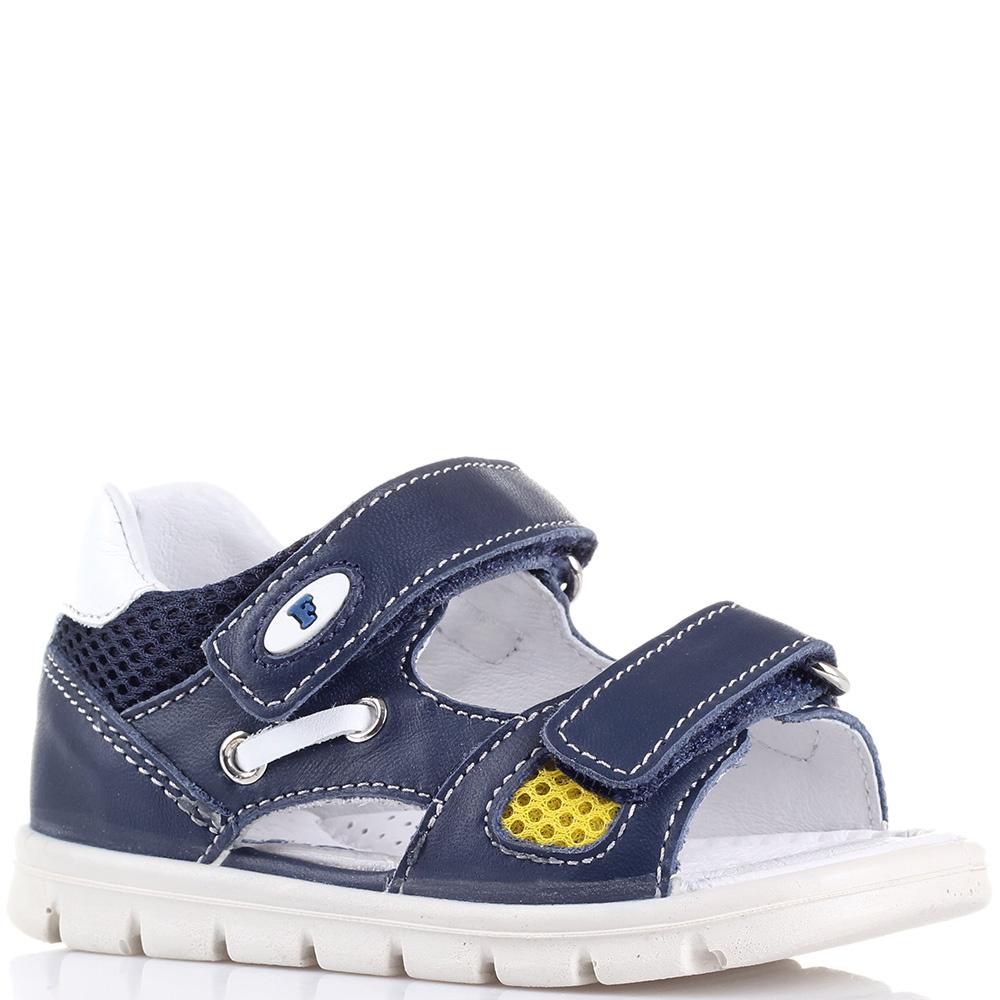 Кожаные сандалии Falcotto синего цвета