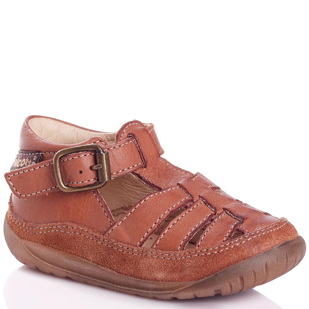 Сандалии коричневые Falcotto с замшевой вставкой