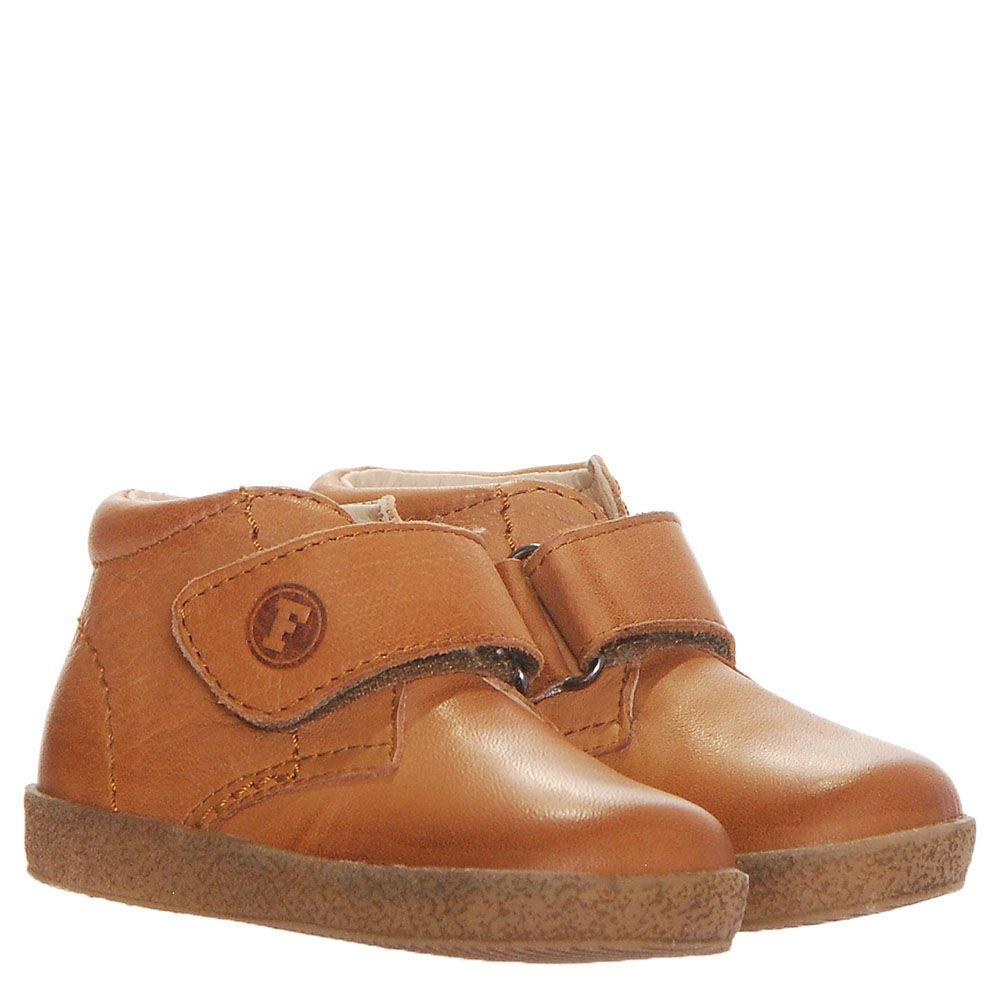Ботинки из кожи светлого коричневого цвета Falcotto на меху и липучках