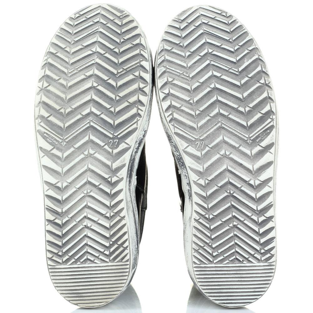 Высокие кожаные ботинки Naturino черного цвета на молнии