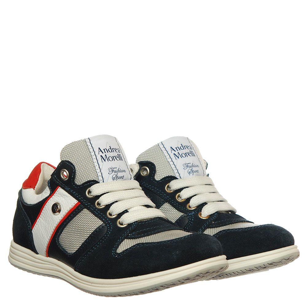 Высокие кроссовки из замши и текстиля Andrea Morelli