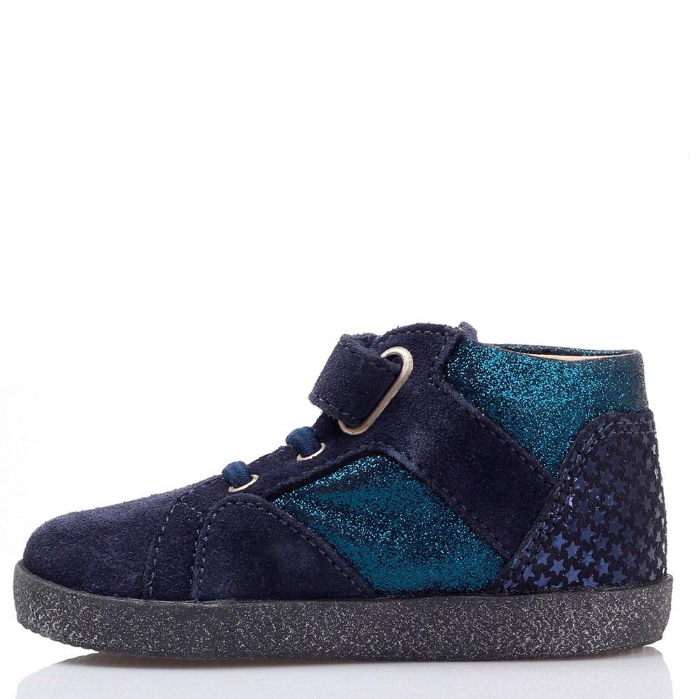 Замшевые ботинки синего цвета Falcotto на толстой подошве