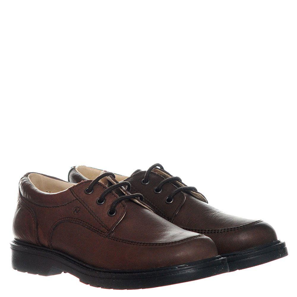 Кожаные туфли коричневого цвета Naturino