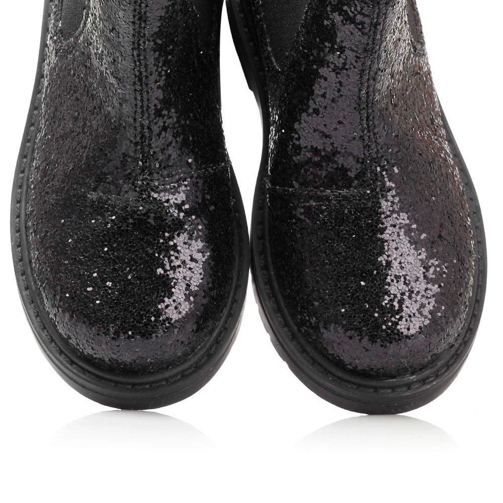 Черные ботинки Naturino в глиттере