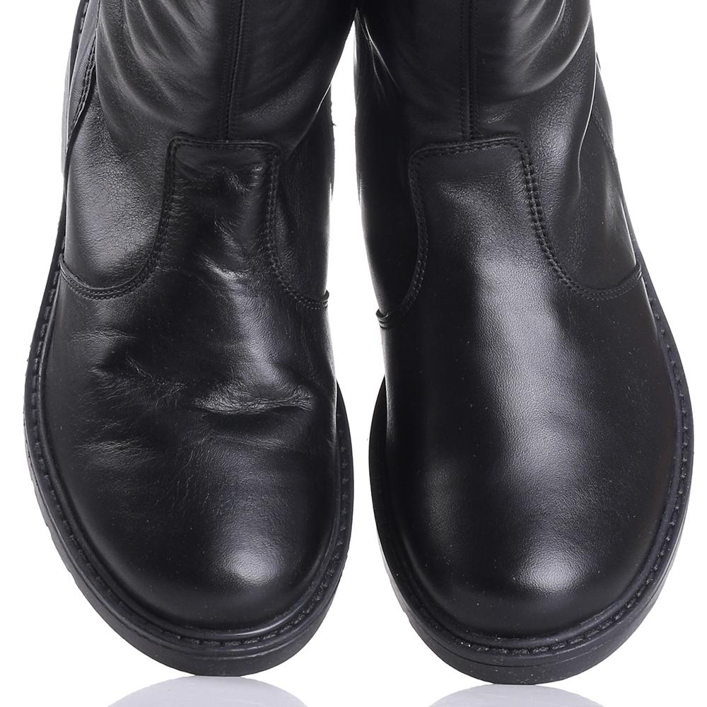 Черные кожаные сапоги Naturino на молнии