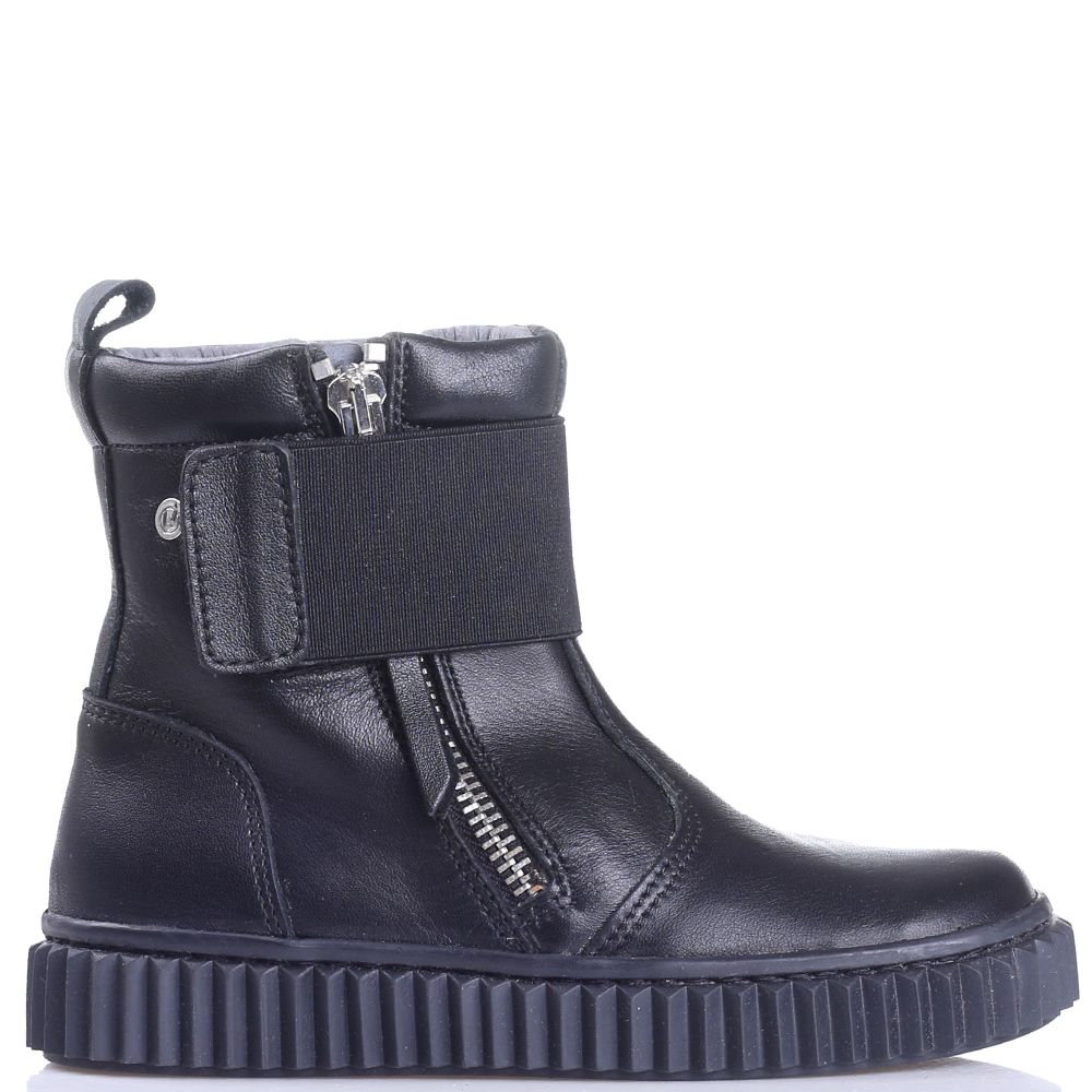 Черные ботинки Naturino на широкой резинке