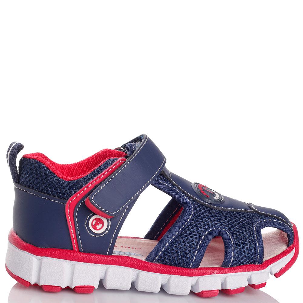 Синие сандалии Falcotto с декором-сеточкой