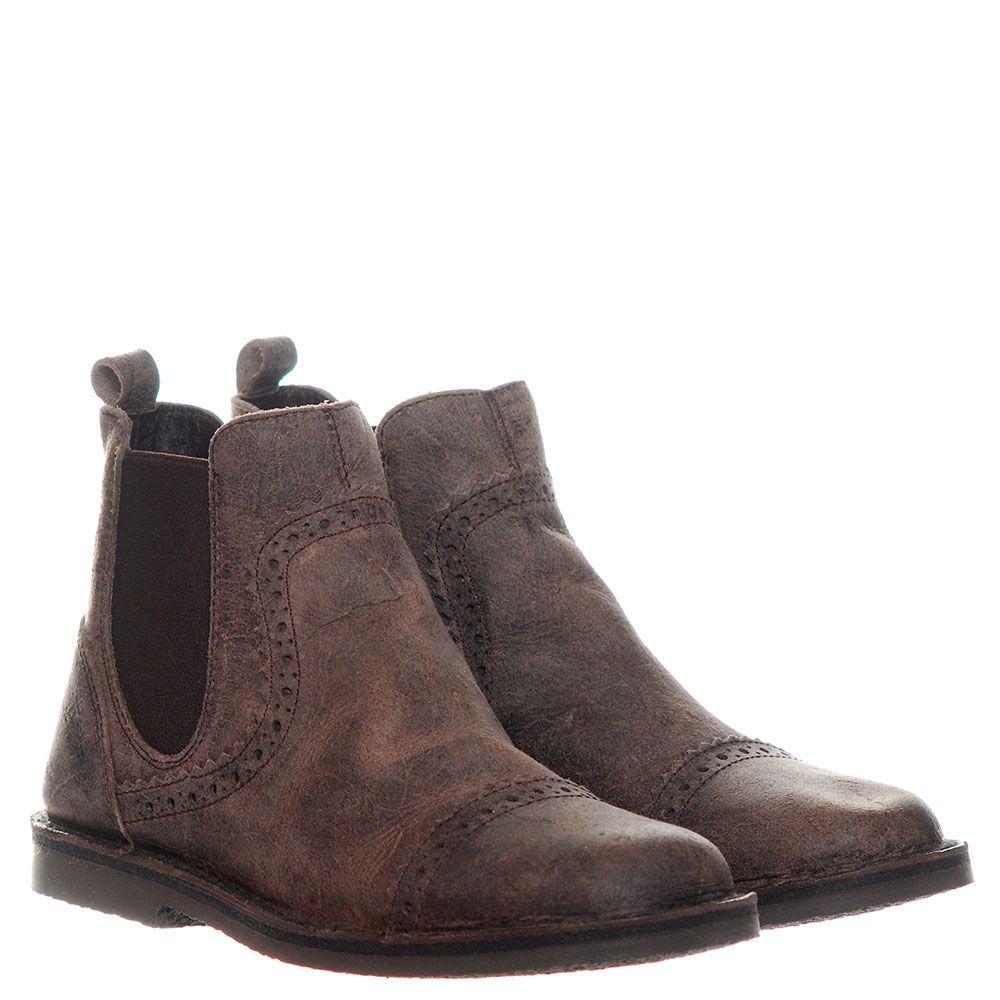 Ботинки-броги из кожи коричневого цвета Dolce&Gabbana на резинках