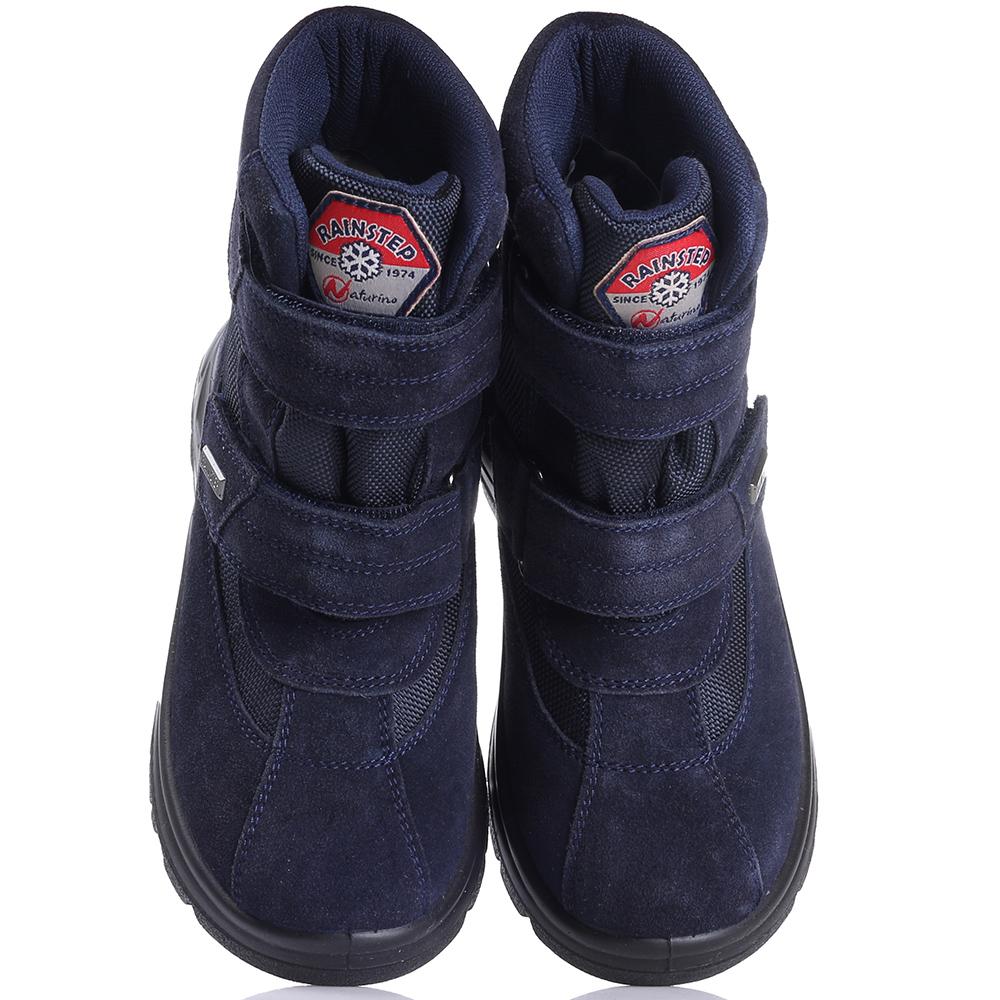 Ботинки Naturino из замши синего цвета