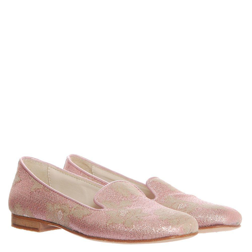Туфли-лоферы из текстиля Florens розового цвета