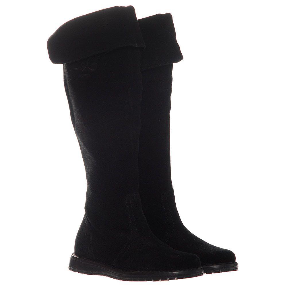 Замшевые сапоги черного цвета Dolce&Gabbana