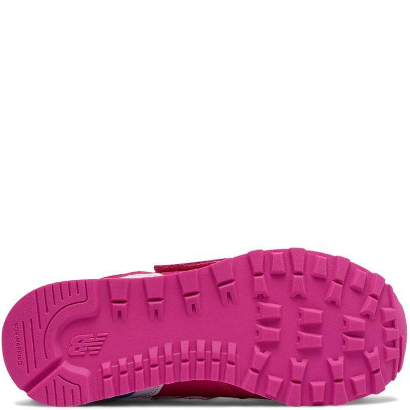 Розовые кроссовки на липучках New Balance 574 Lifestyle