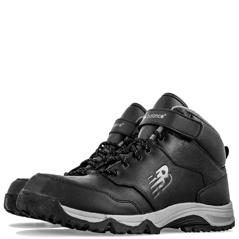Зимние кожаные ботинки New Balance 754 черного цвета