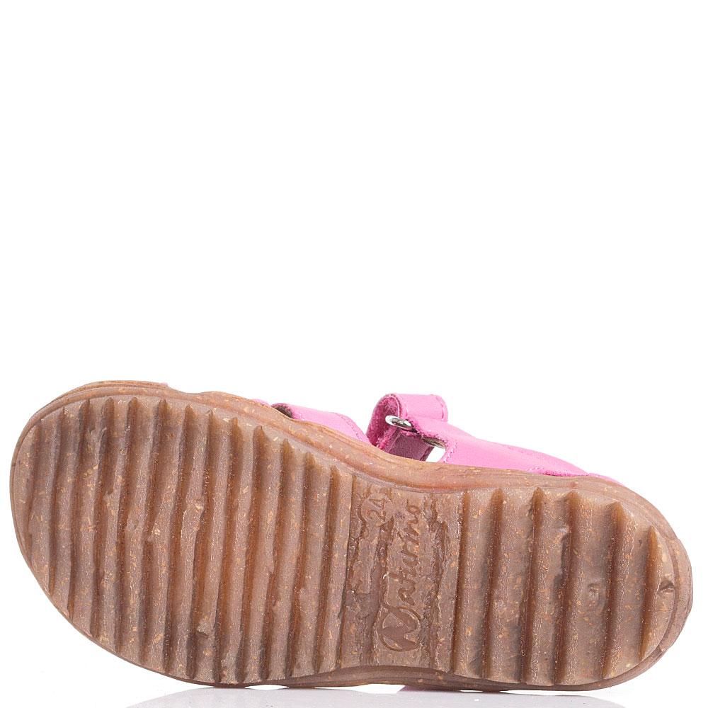 Розовые сандалии Naturino с закрытой пяточкой
