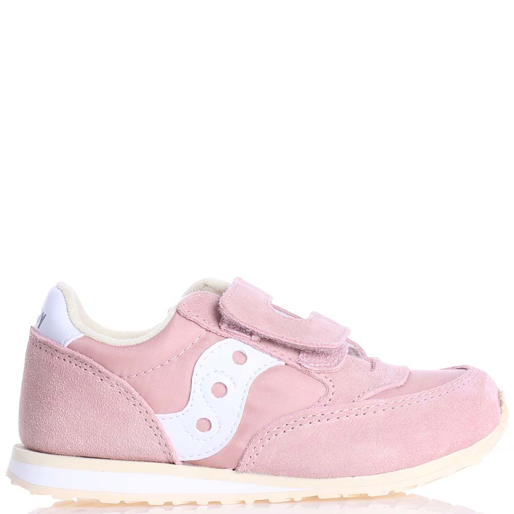 Кроссовки на липучках Saucony Baby Jazz Hl пудрового цвета