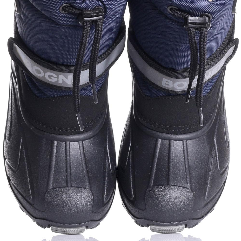 Зимние сапоги Bogner черные с синим