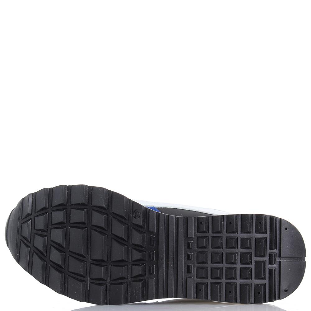 Кроссовки Dsquared2 из кожи с замшевыми вставками