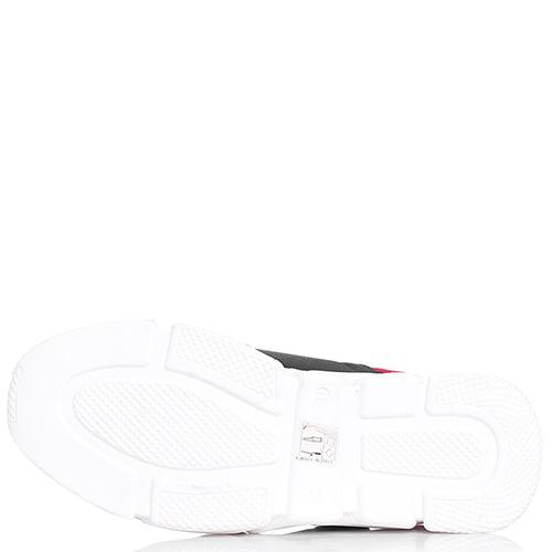 Черно-красные кроссовки Dsquared2 без шнуровки, фото