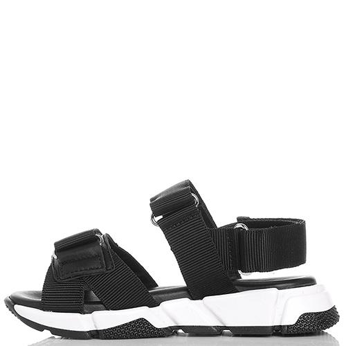 Черные сандалии Dsquared2 на липучках, фото