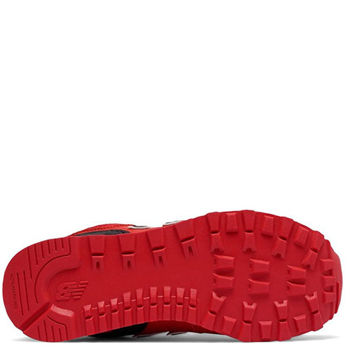 Кроссовки New Balance 574 Lifestyle красного цвета, фото
