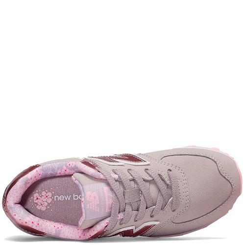 Серые кроссовки New Balance 574 фиолетового цвета, фото