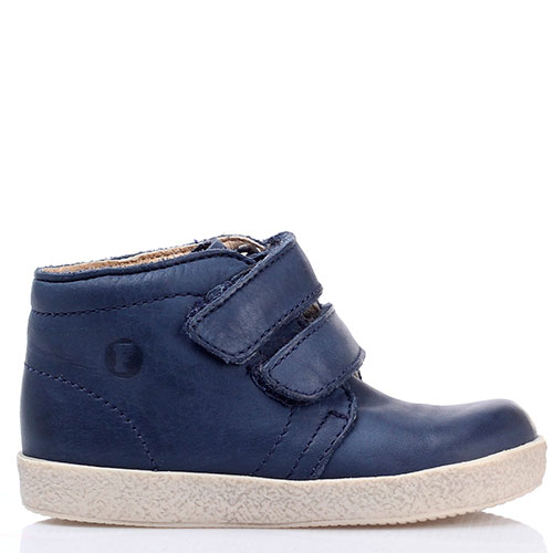 Ботинки на липучках Falcotto из синей кожи, фото