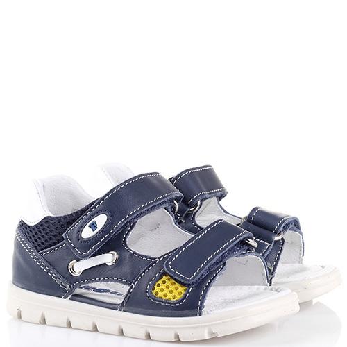 Кожаные сандалии Falcotto синего цвета, фото