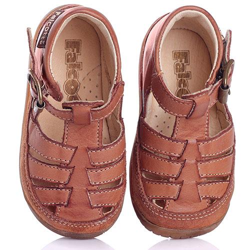 Сандалии коричневые Falcotto с замшевой вставкой, фото