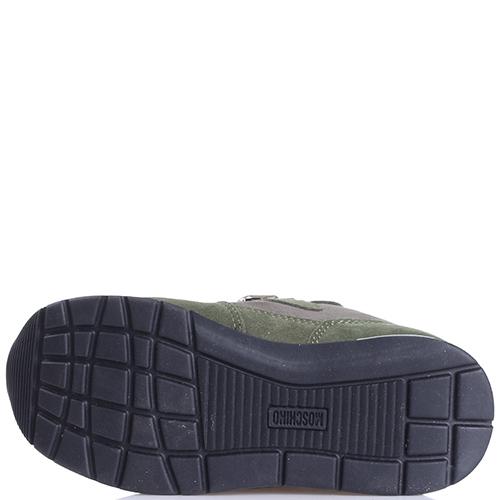 Замшевые кроссовки Love Moschino цвета хаки, фото