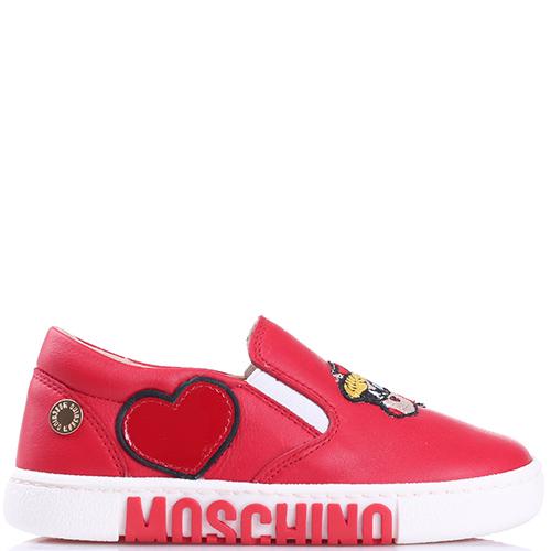 Красные слипоны Love Moschino с аппликацией, фото