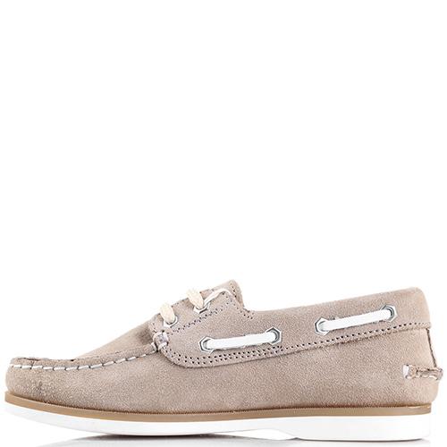 Замшевые туфли Naturino бежевого цвета, фото