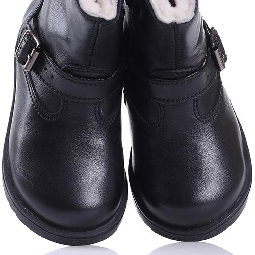 Черные сапоги Naturino на молнии, фото