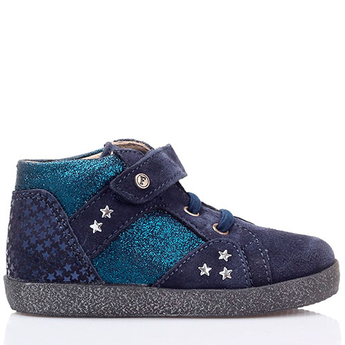 Замшевые ботинки синего цвета Falcotto на толстой подошве, фото