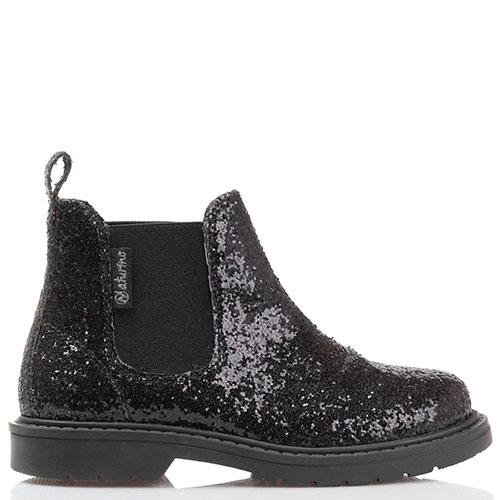 Черные ботинки Naturino в глиттере, фото