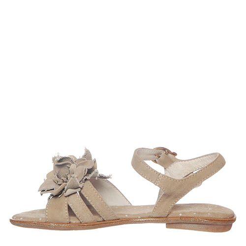 Белые кожаные босоножки Andrea Morelli с Т-образным ремешком, фото