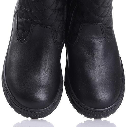Черные сапоги Naturino с геометрической стежкой, фото