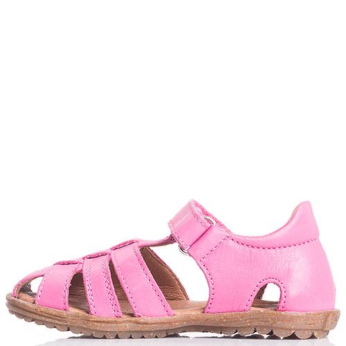 Розовые сандалии Naturino с закрытой пяточкой, фото