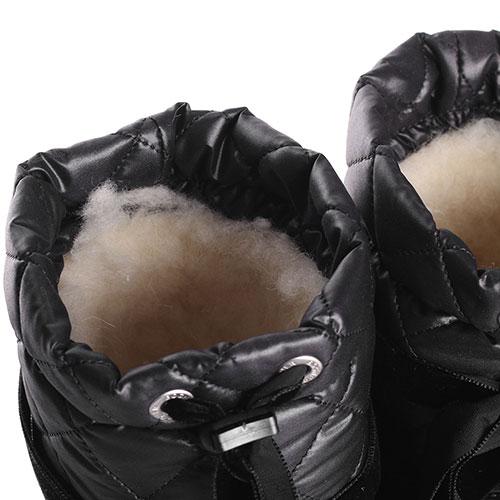 Черные луноходы Bogner с бархатными лентами, фото