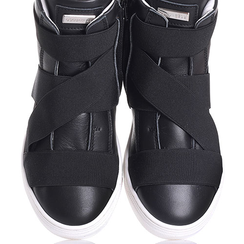 Черные ботинки Dsquared2 с декором-резинками, фото