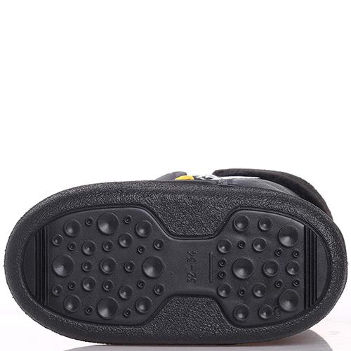 Черные сапоги Dsquared2 с желтыми шнурками, фото