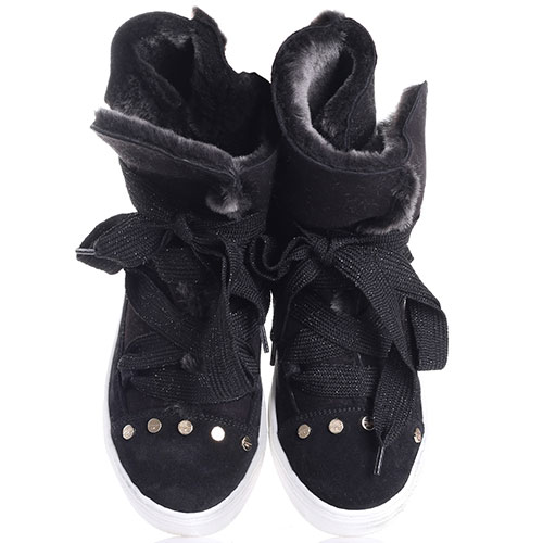 Черные зимние ботинки Elisabetta Franchi из замши, фото