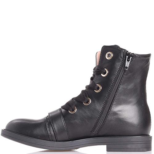 Черные ботинки Elisabetta Franchi с широкими шнурками, фото