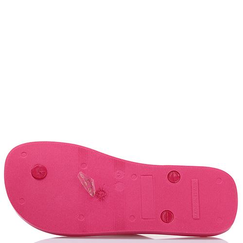 Сланцы Armani Junior в розовом цвете, фото