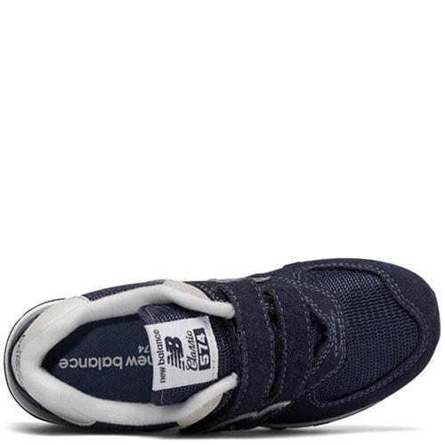 Кроссовки New Balance 574 из замши синего цвета, фото